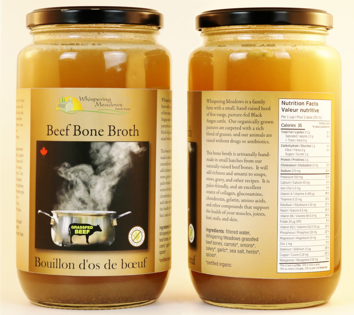 Order organic beef bone broth online, and we'll deliver it to your door from our local organic family farm.