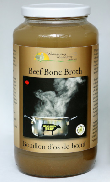 Beef bone broth made from organic pasture-raised beef and certified organic vegetables and seasonings.
