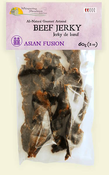 Asian fusion all-natural, locally handcrafted artisinal gourmet beef jerky, made with pasture-raised beef and certified organic ingredients.