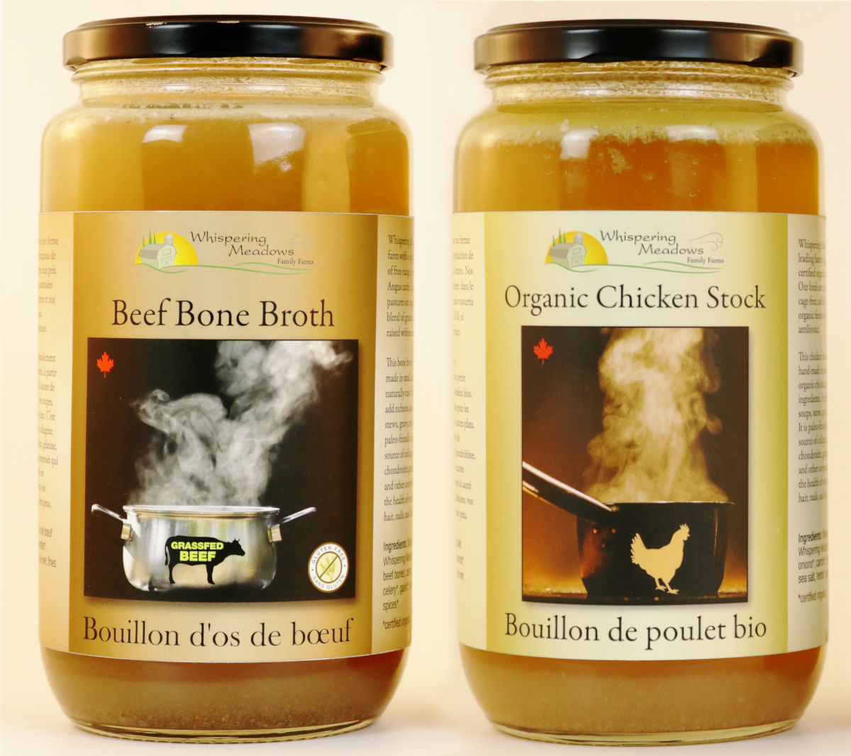 Order organic chicken stock and beef bone broth online, and we'll deliver them to your door from our local organic family farm.