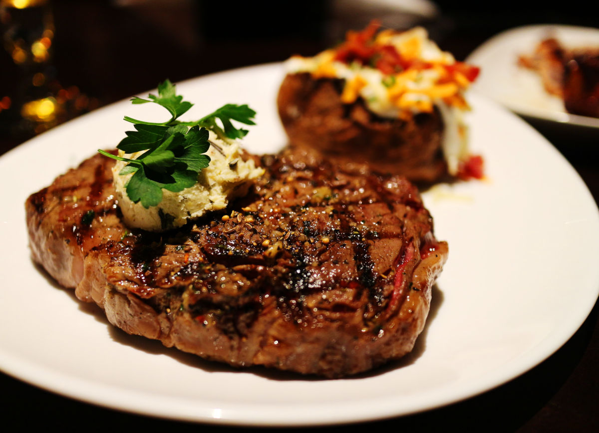 The rib-eye steak is available grass-fed or grain-finished. Both are naturally pasture raised, antibiotic-free, synthetic hormone free, and raised with care and kindness.