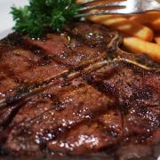 The t-bone steak is a prized steak also known as Porterhouse.