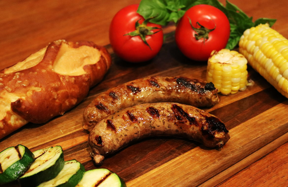 All-natural and organic sausages, locally made from our farm in Ontario Canada, from naturally pasture-raised pork.